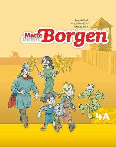bokomslag Matte Direkt Borgen Grundbok 4A Ny upplaga