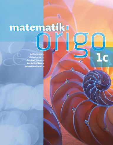 bokomslag Matematik Origo 1c