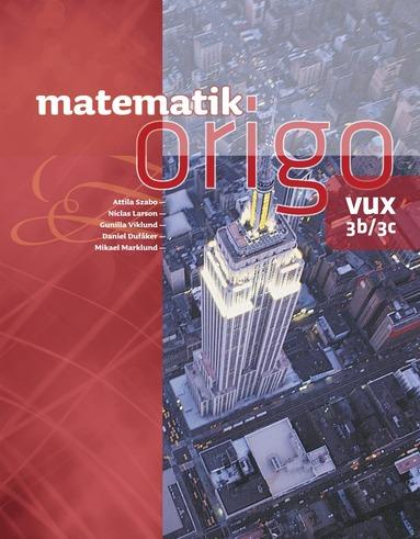 bokomslag Matematik Origo 3b/3c vux
