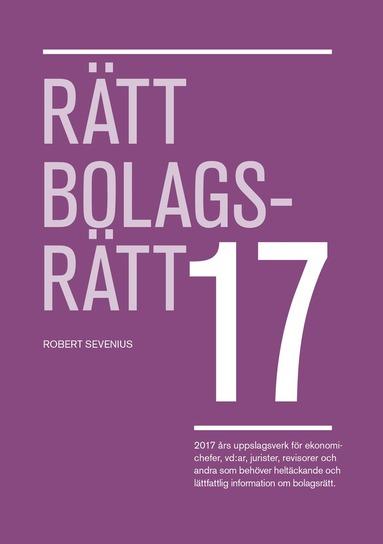 bokomslag Rätt Bolagsrätt 2017