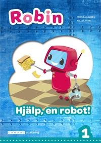 bokomslag Robin åk 1 Läsebok grön Hjälp, en robot!