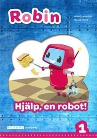 bokomslag Robin åk 1 Läsebok röd Hjälp, en robot!