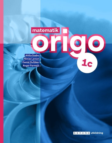 bokomslag Matematik Origo 1c upplaga 3
