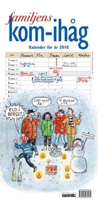 Väggkalender 2018 Familjens kom-ihåg-kalender