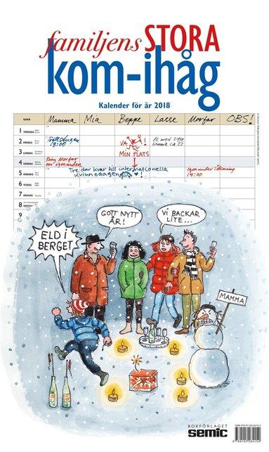 Väggkalender 2018 Familjens STORA kom-ihåg-kalender
