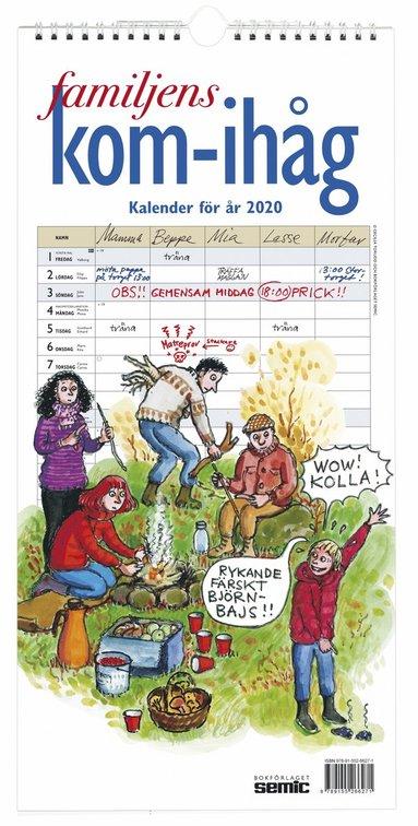 Väggkalender 2020 Familjens kom-ihåg