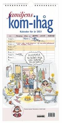 Väggkalender 2021 Familjens kom-ihåg