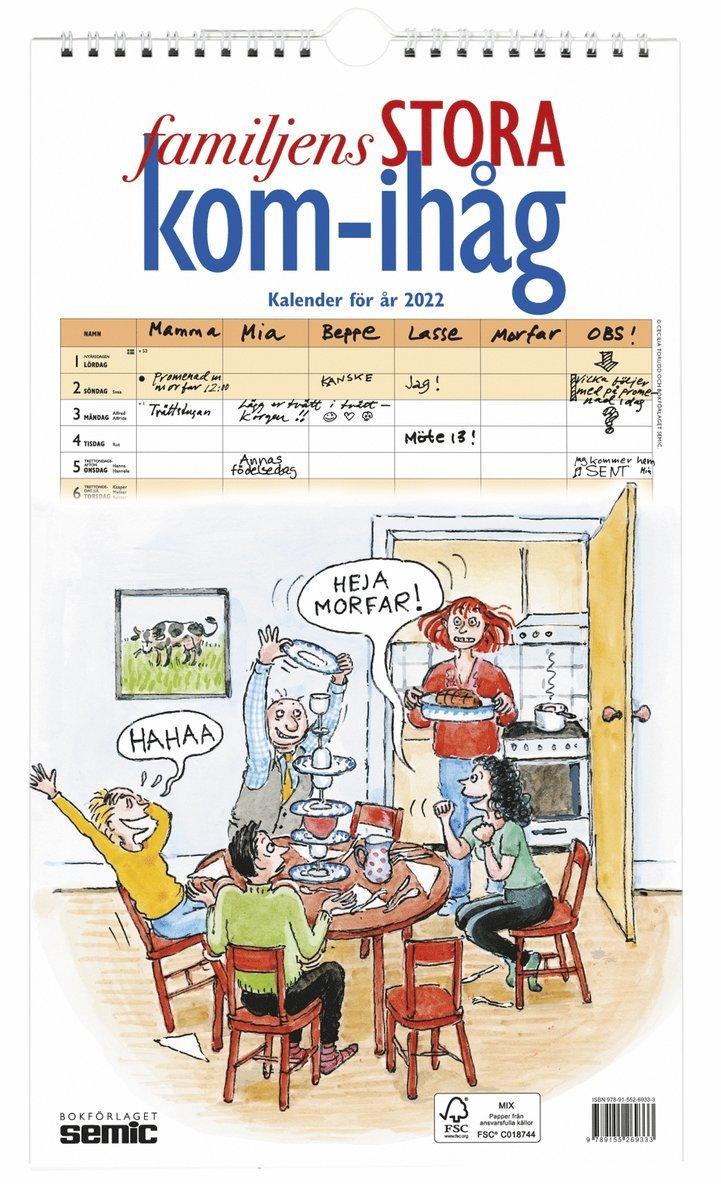 Familjens STORA kom-ihåg-kalender 2022 1