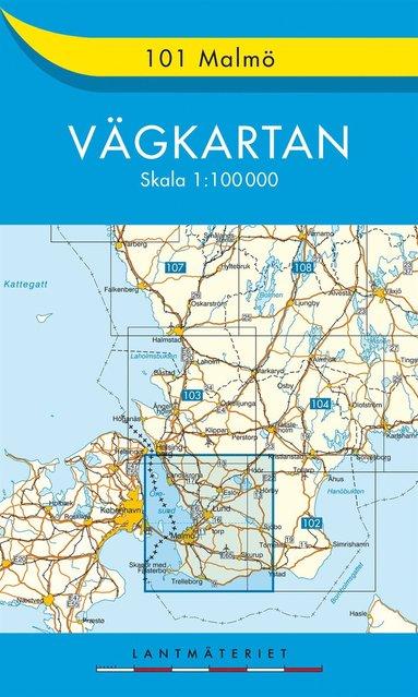 bokomslag 101 Malmö Vägkartan : 1:100000