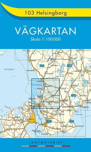 bokomslag 103 Helsingborg vägkartan : 1:100000