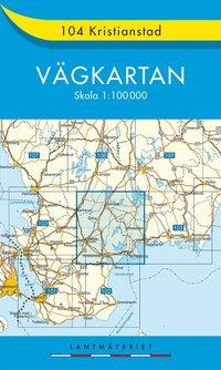 bokomslag 104 Kristianstad Vägkartan : 1:100000