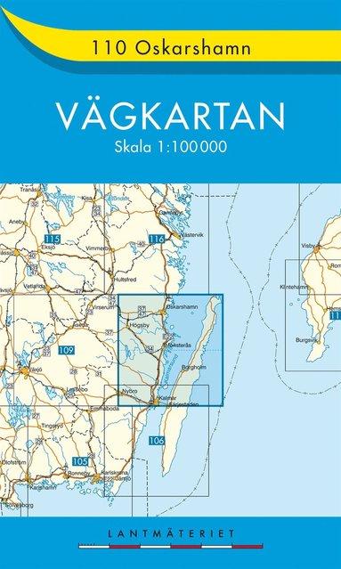 bokomslag 110 Oskarshamn vägkartan : 1:100000
