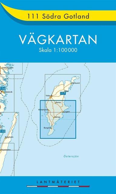 bokomslag 111 Södra Gotland Vägkartan : 1:100000