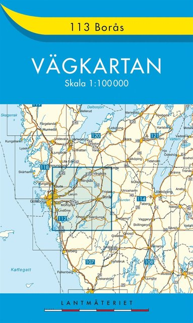 bokomslag 113 Borås Vägkartan : 1:100000