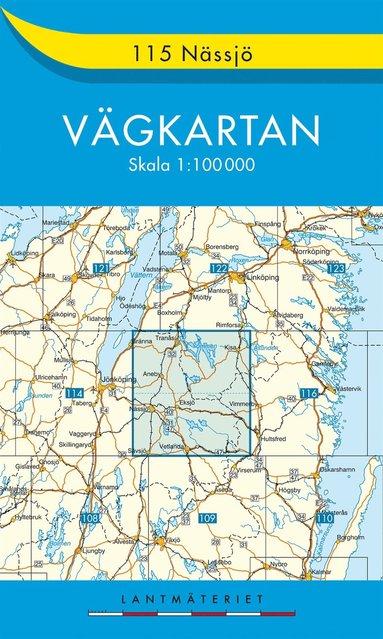 bokomslag 115 Nässjö Vägkartan