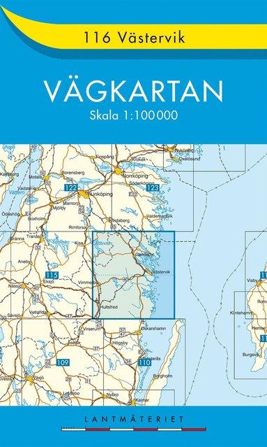 bokomslag 116 Västervik vägkartan : 1:100000