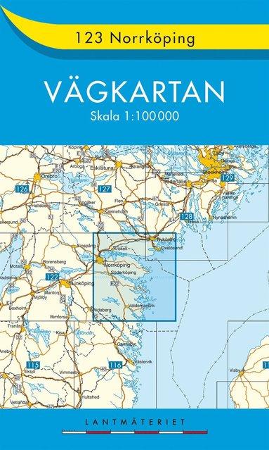 bokomslag 123 Norrköping Vägkartan : 1:100000