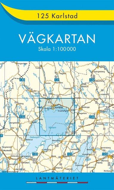 bokomslag 125 Karlstad Vägkartan : 1:100000