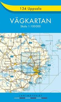 bokomslag 134 Uppsala Vägkartan : 1:100000