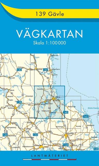 bokomslag 139 Gävle Vägkartan : 1:100000