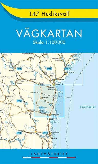 bokomslag 147 Hudiksvall vägkartan : 1:100000