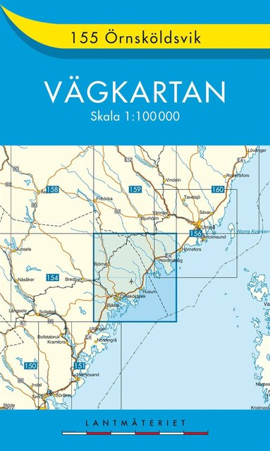 bokomslag 155 Örnsköldsvik Vägkartan : 1:100000