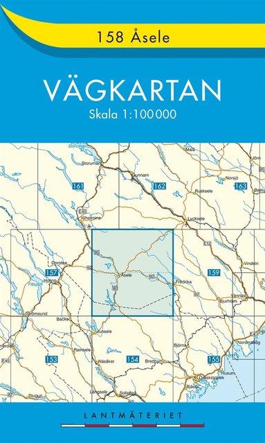 bokomslag 158 Åsele Vägkartan : 1:100000