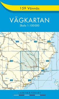bokomslag 159 Vännäs vägkartan : 1:100000