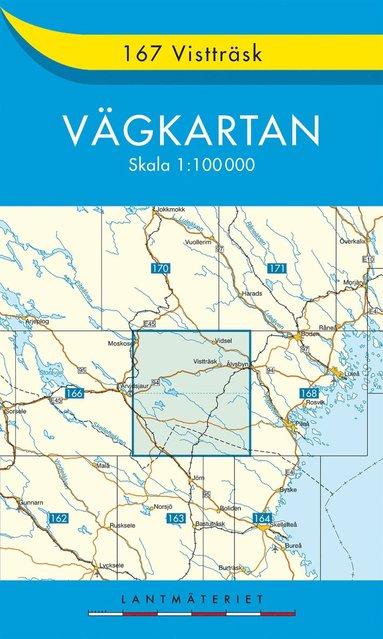 bokomslag 167 Vistträsk vägkartan : 1:100000