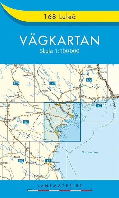 bokomslag 168 Luleå vägkartan : 1:100000