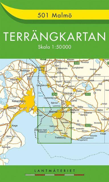 bokomslag 501 Malmö Terrängkartan : 1:50000