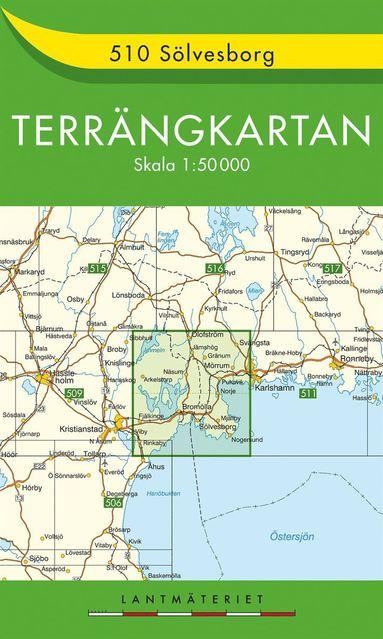 bokomslag 510 Sölvesborg Terrängkartan : 1:150000