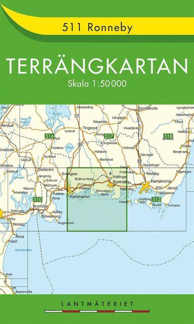 bokomslag 511 Ronneby Terrängkartan : 1:50000