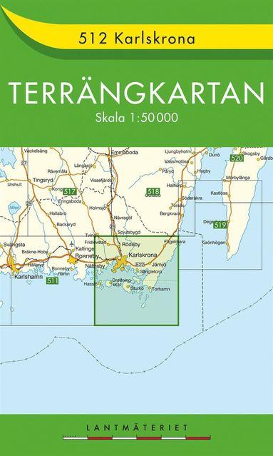 bokomslag 512 Karlskrona Terrängkartan : 1:50000