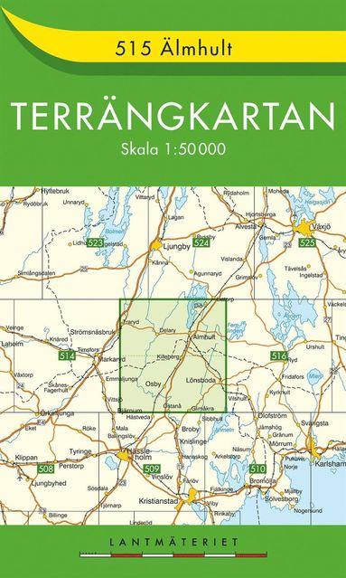 bokomslag 515 Älmhult Terrängkartan : 1:50000
