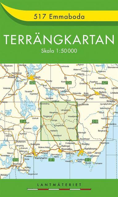 bokomslag 517 Emmaboda Terrängkartan : 1:50000