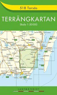 bokomslag 518 Torsås Terrängkartan : 1:50000