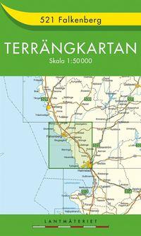 bokomslag 521 Falkenberg Terrängkartan : 1:50000
