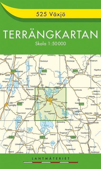 bokomslag 525 Växjö Terrängkartan : 1:50000
