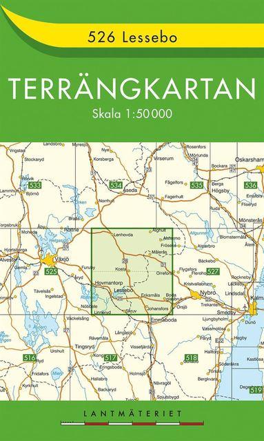 bokomslag 526 Lessebo Terrängkartan : 1:50000