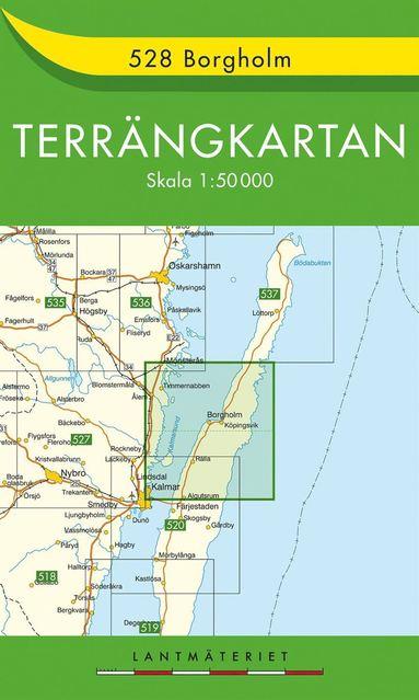 bokomslag 528 Borgholm Terrängkartan : 1:50000
