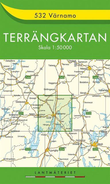 bokomslag 532 Värnamo Terrängkartan : 1:50000