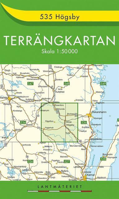 bokomslag 535 Högsby Terrängkartan : 1:50000