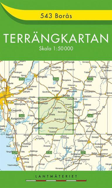 bokomslag 543 Borås Terrängkartan : 1:50000