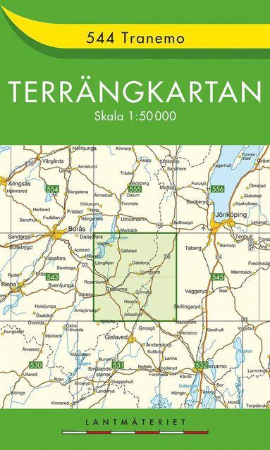 bokomslag 544 Tranemo Terrängkartan : 1:50000