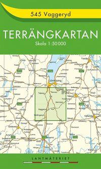 bokomslag 545 Vaggeryd Terrängkartan : 1:50000