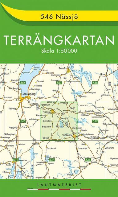 bokomslag 546 Nässjö Terrängkartan : 1:50000