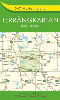 bokomslag 547 Mariannelund Terrängkartan : 1:50000