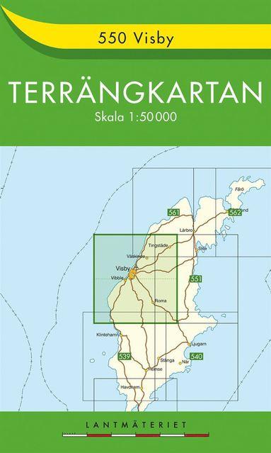 bokomslag 550 Visby Terrängkartan : 1:50000