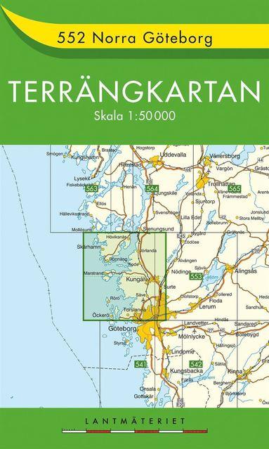 bokomslag 552 Norra Göteborg Terrängkartan : 1:50000